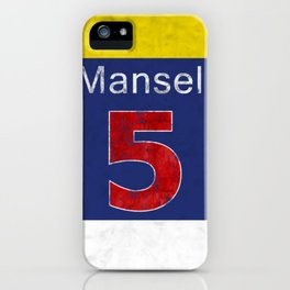 Mansell Red 5 iPhone Case