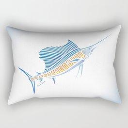 Tribal Sailfish Rectangular Pillow