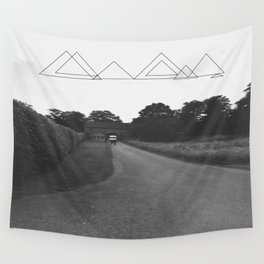 Uneven Sky Over an English Roadway Wall Tapestry
