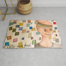 Don´t clutter your head Rug