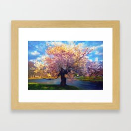 Blooming Tree Impressionist Painting Framed Art Print