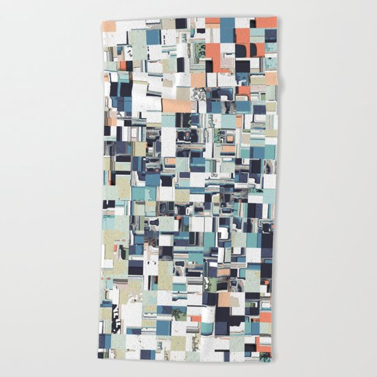 Abstract Jumbled Mosaic Beach Towel
