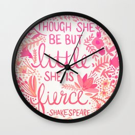 Little & Fierce – Pink Ombré Wall Clock