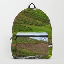 Watercolor Landscape, Trollskagi 32, Iceland Backpack