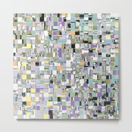 Chaotic Geometric Tiles Metal Print