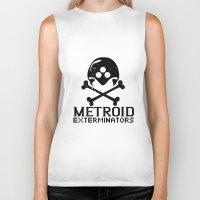 metroid Biker Tanks featuring Metroid Exterminators by SlapJacktheMonkey