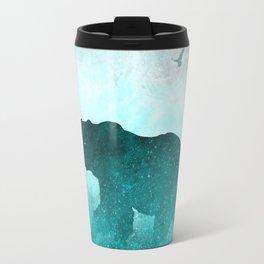 Teal Ghost Bear Travel Mug