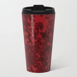 Carmine Red Hybrid Camo Pattern Design Travel Mug