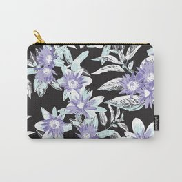 Vintage Floral Blooms Carry-All Pouch