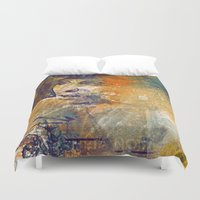 sci fi Duvet Covers featuring Sci-fi Girl by Selver Liddell