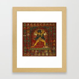 Buddhist Deity Kalachakra Framed Art Print