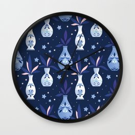 Painted Vases Wall Clock