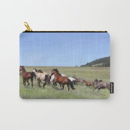 Running Horses Photography Print Carry-All Pouch