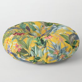 Vintage & Shabby Chic - Sunny Tropical Garden Blue Heron Floor Pillow