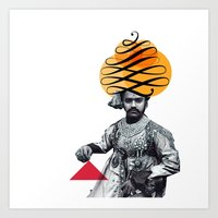 Lettering is a Maharaja's turban Art Print