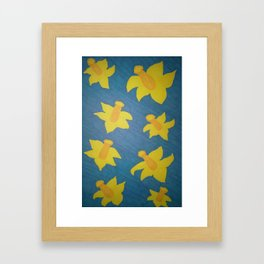 Pop Art Daffodils Framed Art Print