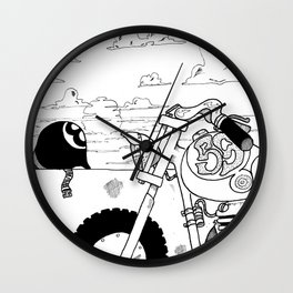 Once Upon a Time a Sunset  Wall Clock