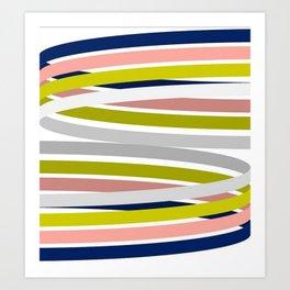 Colorful Strips Art Print