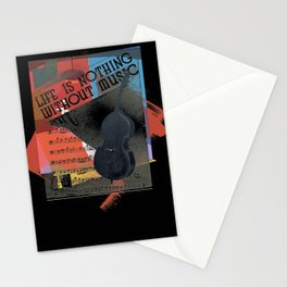 Life is Nothing without Music Stationery Cards