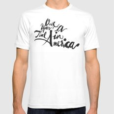 Once Upon a Time in America White MEDIUM Mens Fitted Tee