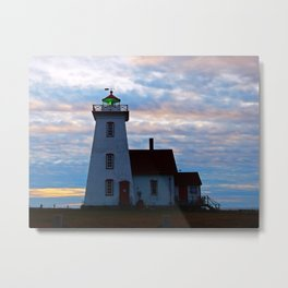 Green Beacon Lighthouse Metal Print