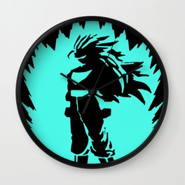 3D Luminous Mens Varnish Neon Glow In Dark goku Wall Clock