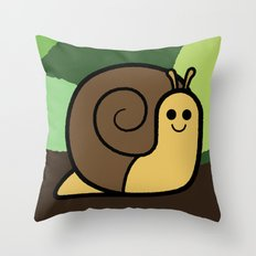 Cutesy Crawlies — Snail Throw Pillow