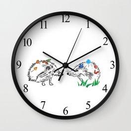 Hedgehogs Meeting Wall Clock