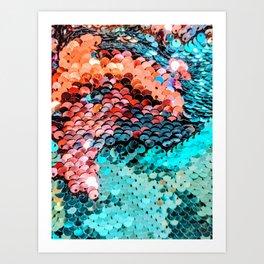 Mermaid Glitter Art Print