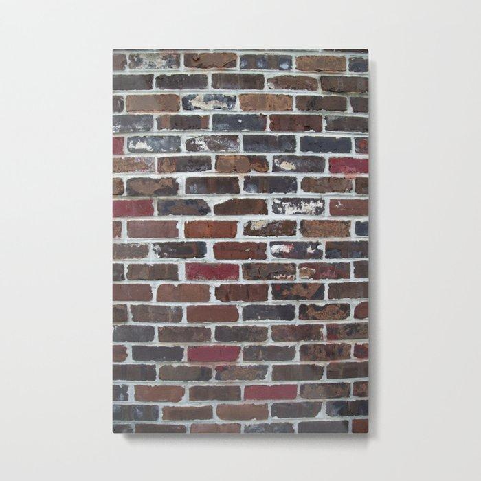 Brick Wall Vertical Metal Print