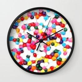 Teenie Weenie Pom Poms Print Wall Clock