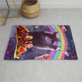 Space Sloth Riding Llama Unicorn - Taco & Burrito Rug