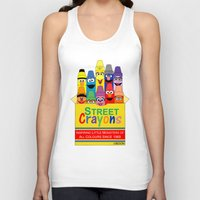 sesame street Tank Tops featuring Color Me Sesame by Mike Boon