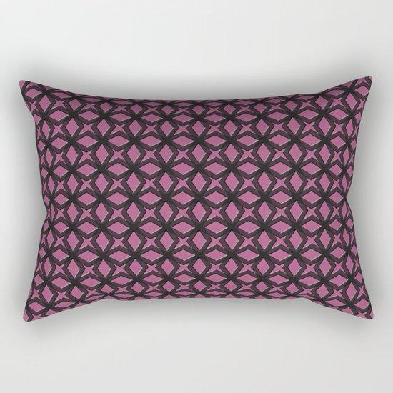 Rose Black Replay Rectangular Pillow