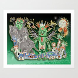 elephant kichina Art Print