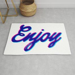 Enjoy the little things in life - part 3 #eclecticart Rug