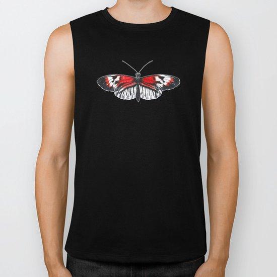 Piano key Butterfly (Heliconius melpomene) Biker Tank