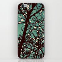 night iPhone & iPod Skins featuring Night Lights by elle moss