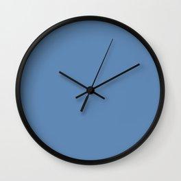 Blue Cones ~ Steel Blue Wall Clock