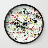 hats Wall Clocks featuring And hats. Hats, hats, hats for career girls. by Tina Carroll