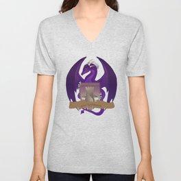 Clan Lochguard Purple Dragon Crest Unisex V-Neck