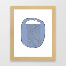 Heartly Raining Framed Art Print