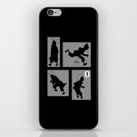 tintin iPhone & iPod Skins featuring Tintin, Silhouetted by Faellen