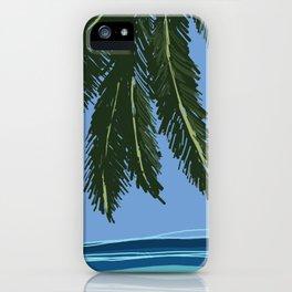 Silence #beach #art #summer iPhone Case