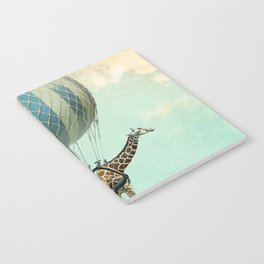 Sticking your neck out, giraffe Notebook