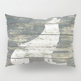 Rustic White Wolf Silhouette A383 Pillow Sham
