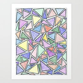 triangles (un) Art Print