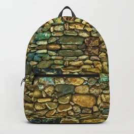 Natural Rock Wall Art Design Backpack