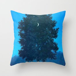 Rene Magritte - Le Seize Septembre - 1956 Moon Through Tree Surrealism Throw Pillow