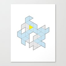 Triangle Tessel Cluster Canvas Print